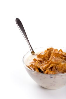 Free Cornflakes With Milk Stock Photos - 7917323