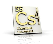 Caesium Form Periodic Table Of Elements Stock Photos