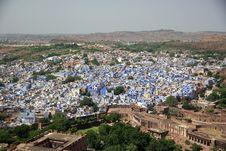 Free Blue City Of Jodhpur, Rajasthan Royalty Free Stock Photo - 7917675