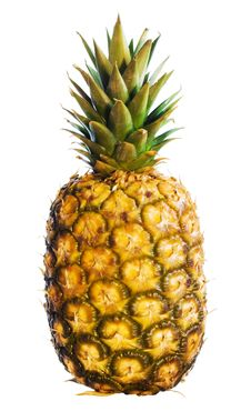 Free Pineapple On White Stock Photography - 7917702