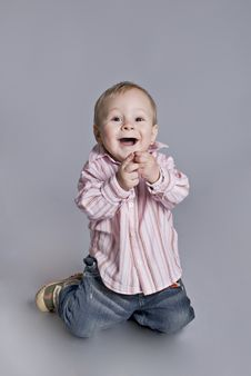 Free A Little Boy Smiles Royalty Free Stock Photography - 7917847