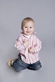 Free A Little Boy Smiles Royalty Free Stock Photos - 7917908