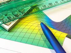 Free Pen, Ruler And Calculator Stock Image - 7918091