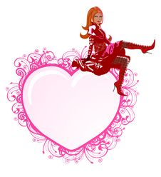 Free Vector Illustration Of Beautiful Girl Royalty Free Stock Photo - 7918755