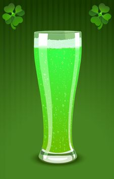 Free Vector Illustration Of A Green Beer Glass Royalty Free Stock Photo - 7918765