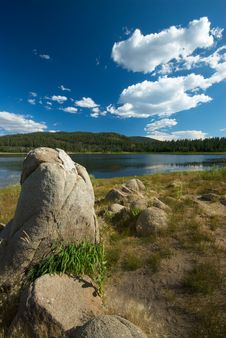 Free Boulders And Lake Stock Photo - 7918780