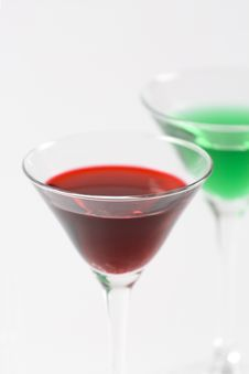 Free Red And Green Cocktails Royalty Free Stock Image - 7919036