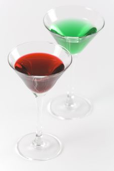 Free Red And Green Cocktails 2 Royalty Free Stock Image - 7919046