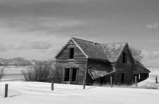 Free Abandoned Prairie Homestead Stock Photography - 7919152