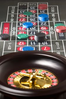 Free Roulette Chips Stock Photography - 7919902