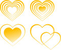Free Four Hearts Gold Stock Images - 7925044