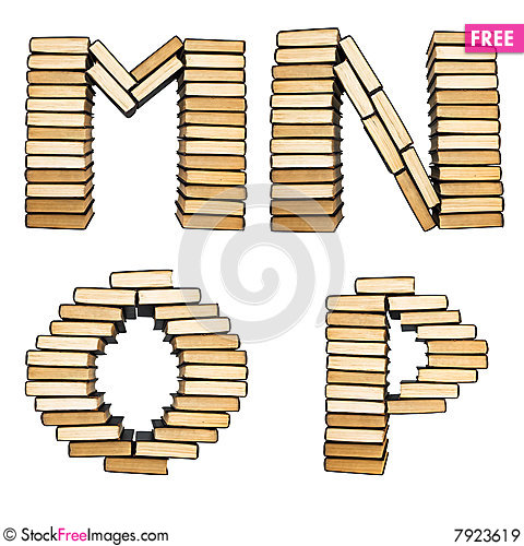 ABC from books. Stock Photo