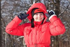 Free The Girl In Red Walks. Royalty Free Stock Photo - 7920075