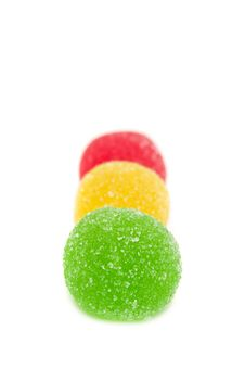 Free Sweet Fruit Color Candy On White Royalty Free Stock Image - 7920076