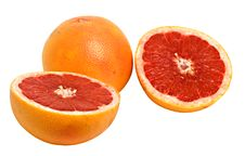 Free Close Up Of Grapefruit And Its Sections Stock Photo - 7920360