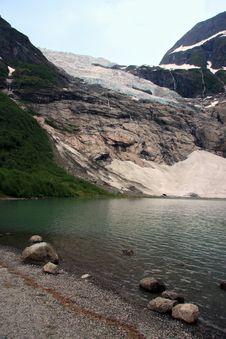 Lake And Glacier View Royalty Free Stock Image