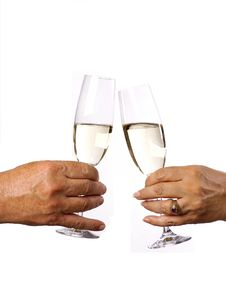 Free A Male And Female With A Glass Champagne Stock Photos - 7920463