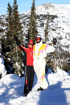 Free Family Of Mountain-skiers. Royalty Free Stock Photography - 7920697