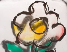 Free Hand Painted Glass Stock Images - 7921294