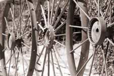 Free Old Metal Wheels Royalty Free Stock Image - 7921296