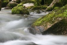 Cascades Of Soca River Stock Photography
