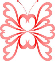 Free Heart-butterfly Stock Photography - 7922242