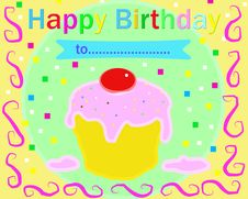 Free Happy Birthday Multicolor Card Stock Photo - 7922270