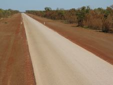 Australian Country Road Royalty Free Stock Photography