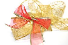 Free Golden And Red Ribbon Royalty Free Stock Image - 7922386