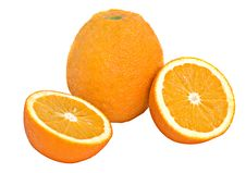 Free Orange And Its Sections Stock Photos - 7922683