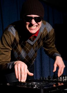 Free Crazy Funky DJ In A Nightclub Royalty Free Stock Photos - 7922698