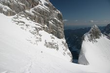 Winter Mountaineers In Julian Alps Royalty Free Stock Image