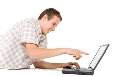 Free Teen With Laptop Royalty Free Stock Photos - 7922908