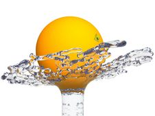 Free Orange In Water Splash Stock Photo - 7923010