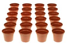 Free Flowerpots On White. Royalty Free Stock Image - 7923186