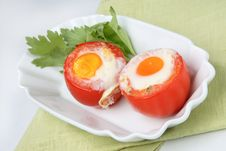 Free Two Fried Eggs On Fresh Tomato Stock Photos - 7923373