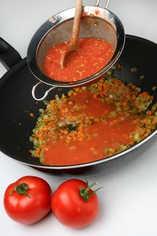 Free Pressing Cooked Tomatoes Stock Photography - 7923512
