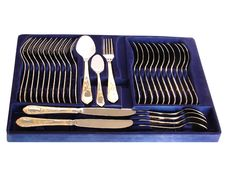 Free Complete Silverware Set Royalty Free Stock Images - 7924019