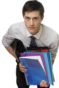 Free Student With Documents Stock Photos - 7924103