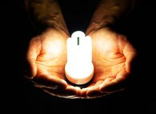 Free Lamp In Hand Royalty Free Stock Photography - 7924297