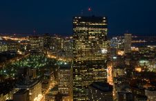 Free Evening Flight Over Big City Royalty Free Stock Images - 7925039