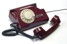 Free Old Telephone On White Stock Photo - 7925110