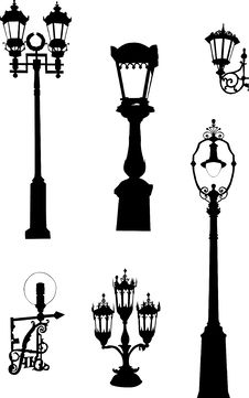 Free Six Street Lamps Collection Stock Photo - 7925210