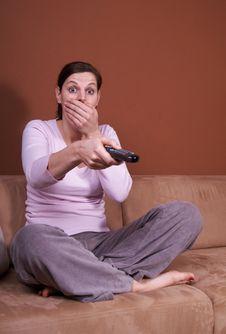 Free Frightening TV Stock Photography - 7925472