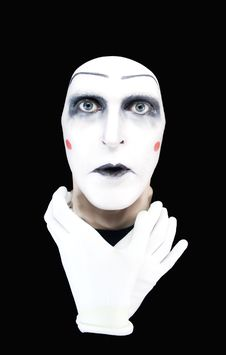 Free Mime With Hands On A Neck Stock Images - 7925614
