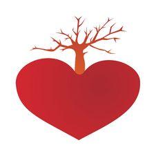 Tree From The Heart Stock Photos