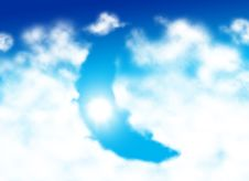 Free Moon Shaped Cloud Stock Image - 7925911