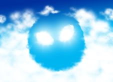 Alien Face Shaped Cloud Stock Photography