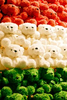 Free Colorful Teddy Bears Stock Photography - 7925972