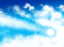 Free Comet Shaped Cloud Stock Photography - 7926012